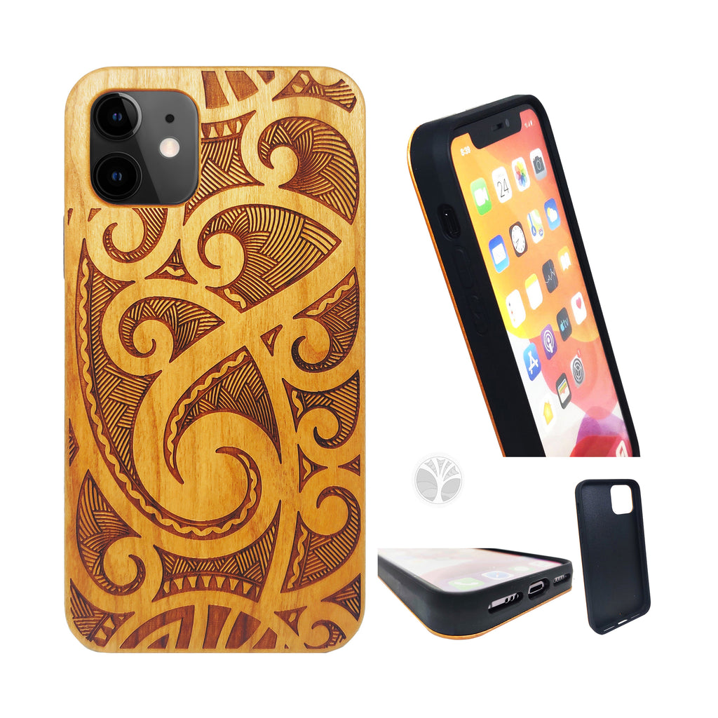 """MAORI"" Wood phone case"