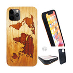 """World Map"" Wood phone case"