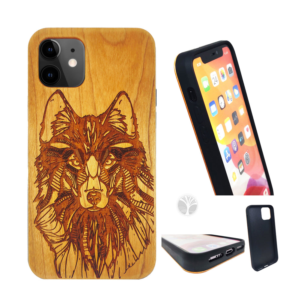 """WOLF"" Wood phone case"