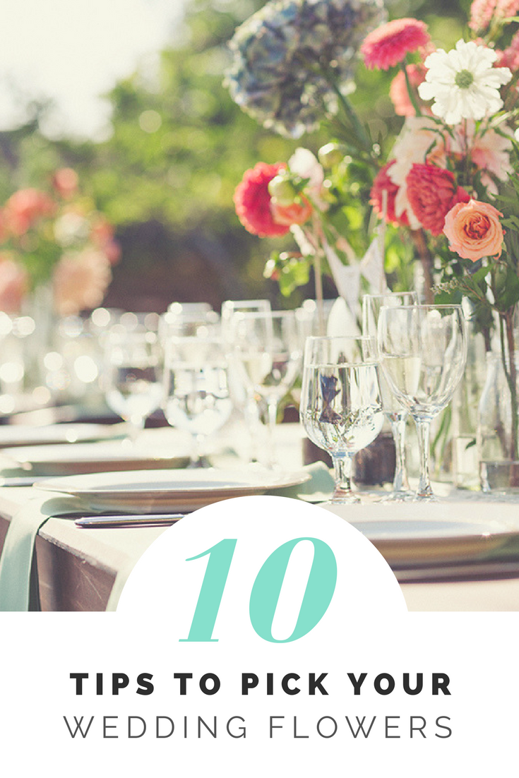 10 tips to pick your wedding flowers