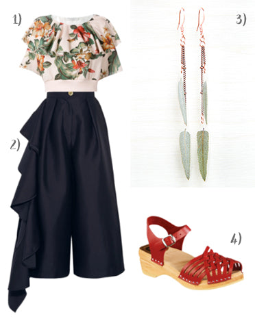 spring outfits - sage earrings