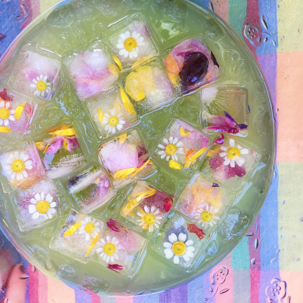 summer party flower punch bowl