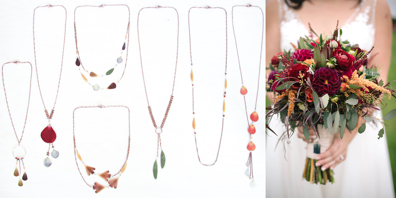 transform your wedding bouquet into jewelry