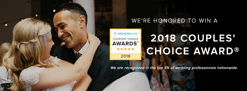 wedding wire couples choice award winner 2018 impressed by nature