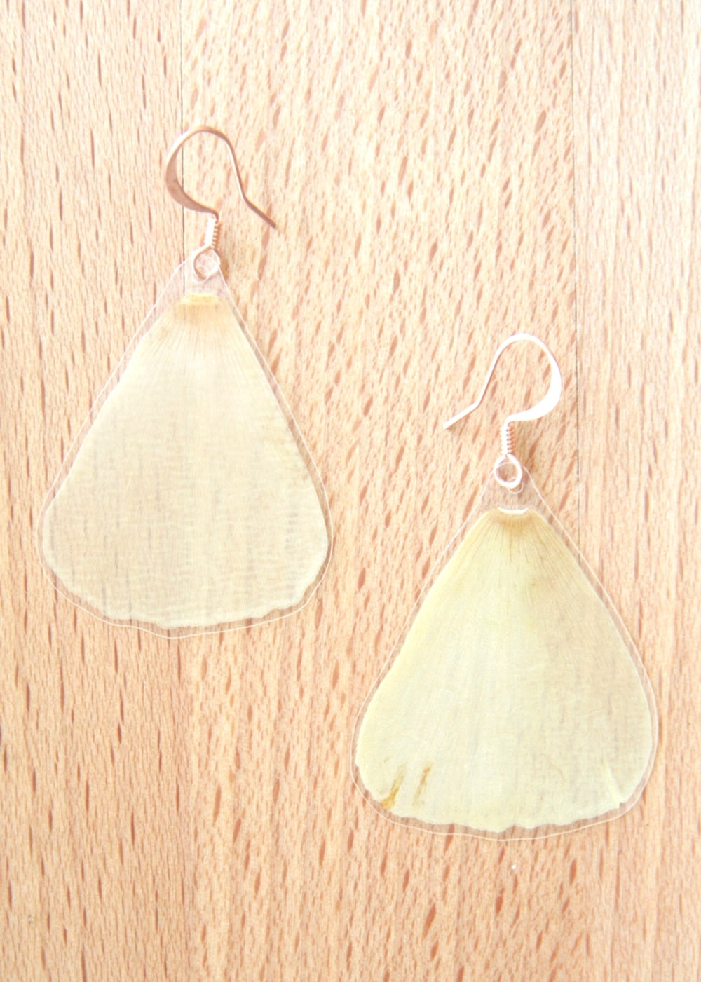 Yellow California Poppy Pressed Flower Earrings