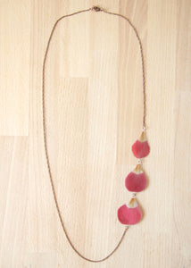 Red Anemone Pressed Flower Necklace