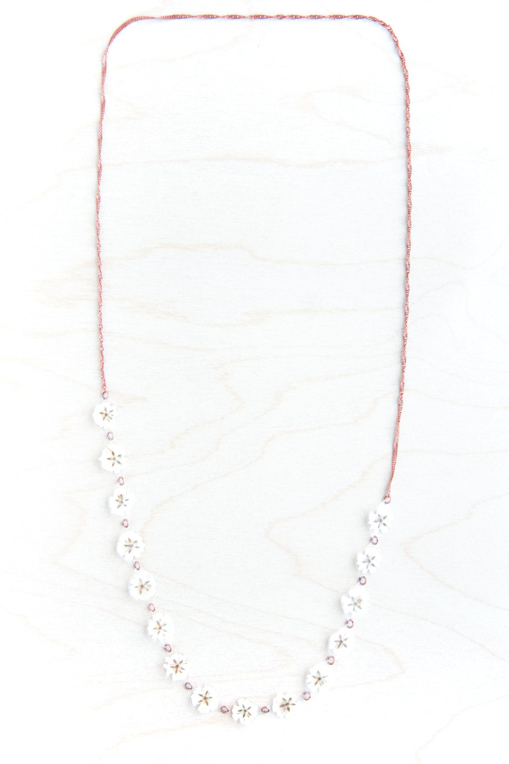 White Baby's Breath Flower 'Daisy Chain' Necklace