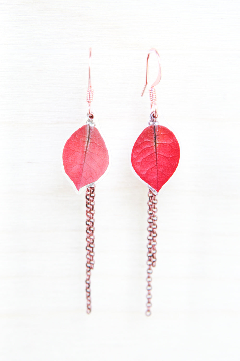 Fuchsia Bougainvillea Pressed Flower Earrings