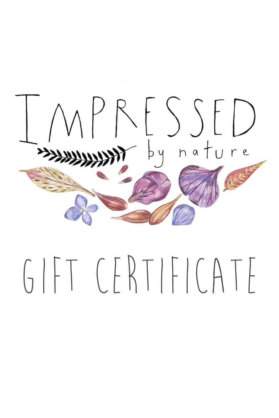 IMPRESSED by nature Gift Card