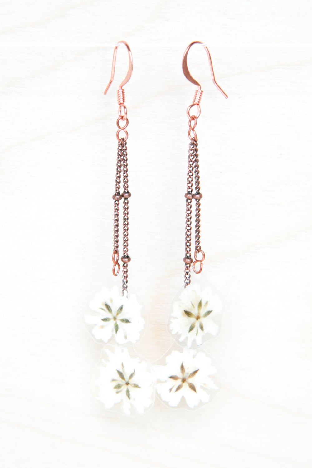 Baby's Breath Pressed Flower Earrings
