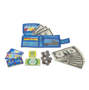 Pretend-to-Spend Wallet Melissa & Doug Role Play- BibiBuzz