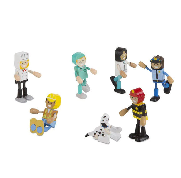 Wooden Flexible Figures - Careers Melissa & Doug Role Play- BibiBuzz