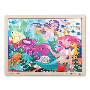 Mermaid Fantasea Wooden Jigsaw Puzzle (48pc) Melissa & Doug Puzzles- BibiBuzz