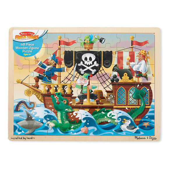 Pirate Adventure Wooden Jigsaw Puzzle (48pc) Melissa & Doug Puzzles- BibiBuzz