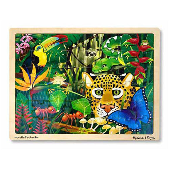 Rainforest Wooden Jigsaw Puzzle (48pc) Melissa & Doug Puzzles- BibiBuzz