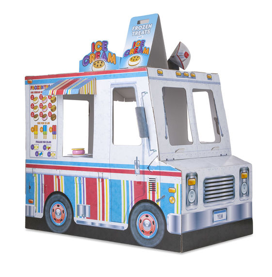 Cardboard Structure - Food Truck Melissa & Doug Pretend Play- BibiBuzz