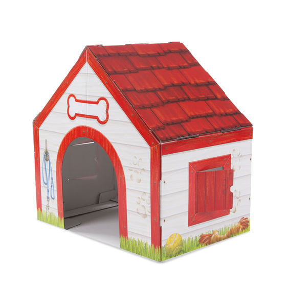 Cardboard Structure - Doghouse Melissa & Doug Pretend Play- BibiBuzz