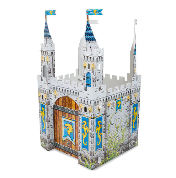 Cardboard Structure - Castle Melissa & Doug Pretend Play- BibiBuzz