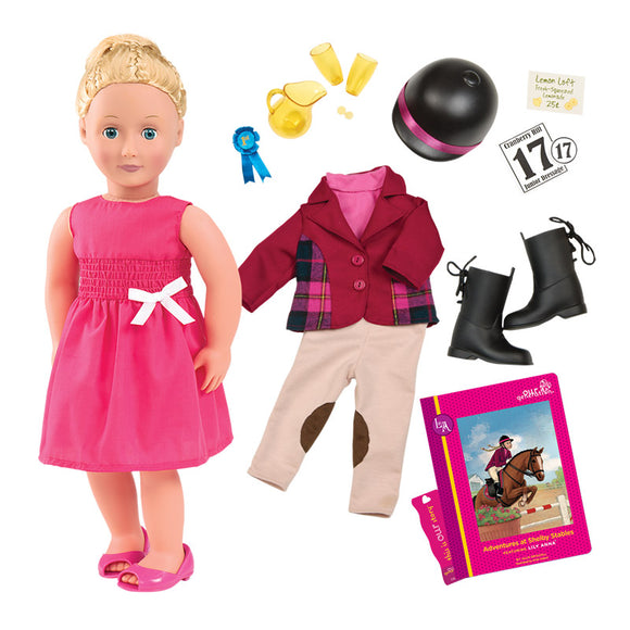 Deluxe Doll Lily Anna 18 Inch Blonde Our Generation Dolls- BibiBuzz