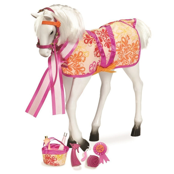 Foal Lipizzaner White 13 Inch Our Generation Doll Accessories- BibiBuzz