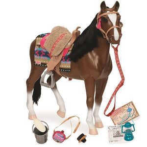 Horse Thoroughbred Country Explorer 20 Inch Our Generation Doll Accessories- BibiBuzz