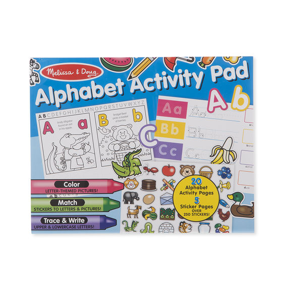 Alphabet Activity Pad Melissa & Doug Activities- BibiBuzz
