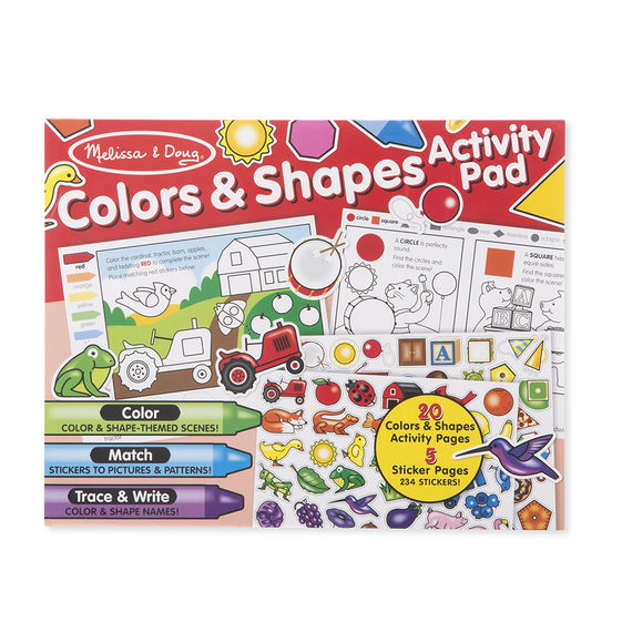 Colours and Shapes Activity Pad Melissa & Doug Activities- BibiBuzz