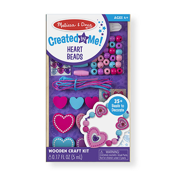 Heart Bead Set Melissa & Doug Creative Crafts- BibiBuzz