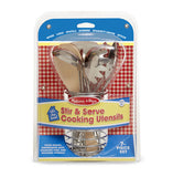 Stir & Serve Cooking Utensils Melissa & Doug Pretend Play- BibiBuzz