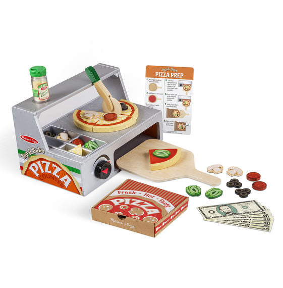 Top and Bake Pizza Counter Melissa & Doug Pretend Play- BibiBuzz
