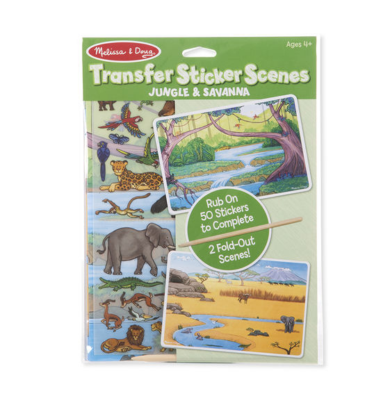 Transfer Sticker Set - Jungle Melissa & Doug Activities- BibiBuzz