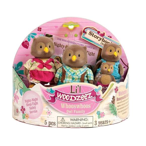 Li'l Woodzeez Owl Family Li'l Woodzeez Pretend Play- BibiBuzz