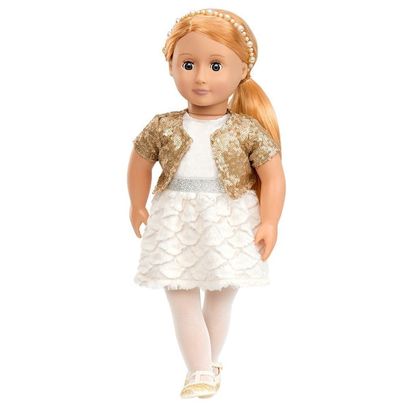 Classic Doll Holiday Hope 18 Inch Blonde Our Generation Dolls- BibiBuzz