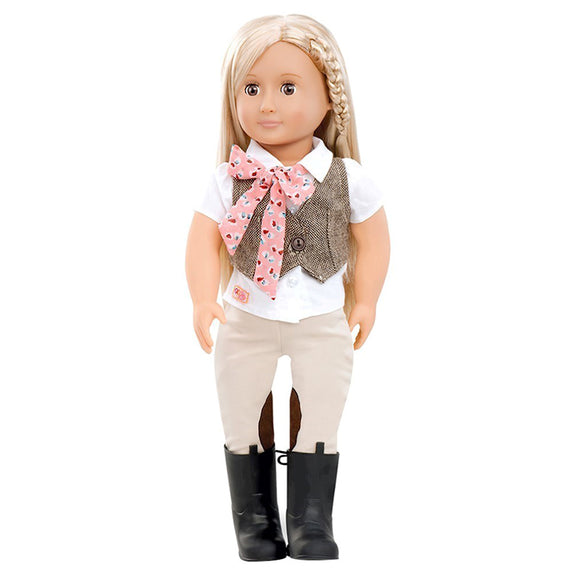 Classic Doll Leah 18 Inch Blonde Our Generation Dolls- BibiBuzz
