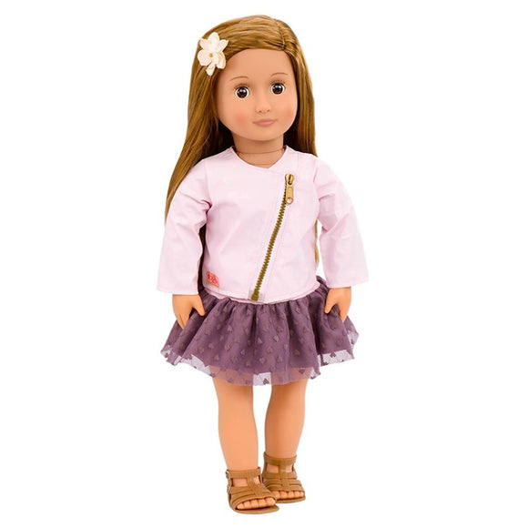 Classic Doll Vienna 18 Inch Chestnut Our Generation Dolls- BibiBuzz