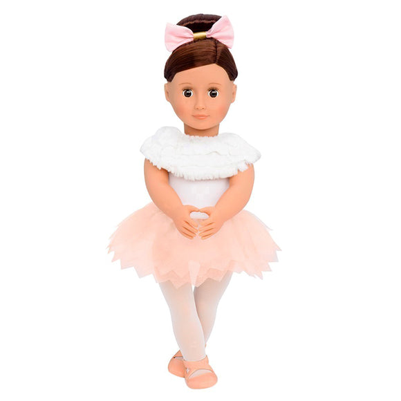 Classic Doll Valencia 18 Inch Brunette Our Generation Dolls- BibiBuzz