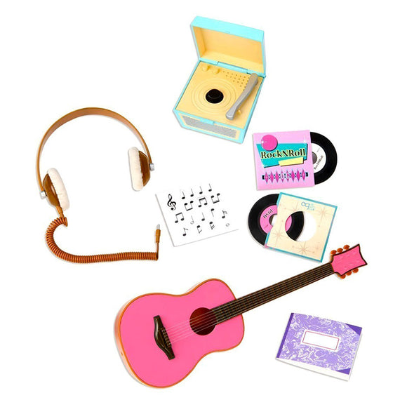 Classic Retro Records Music Playset Our Generation Doll Accessories- BibiBuzz