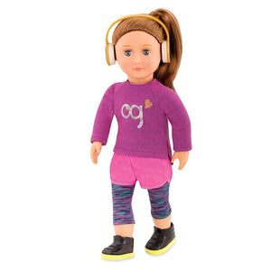 Classic Doll Alicia 18 Inch Chestnut Our Generation Dolls- BibiBuzz