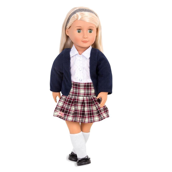 Classic Doll Emmeline 18 Inch Blonde Our Generation Dolls- BibiBuzz