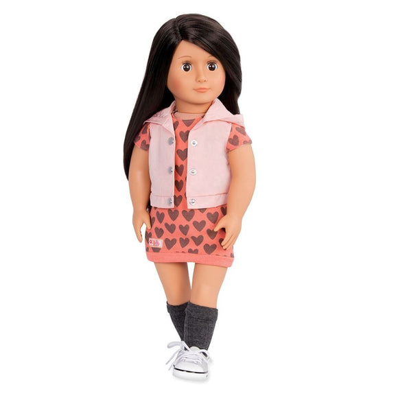 Classic Doll Lili 18 Inch Dark Brown Our Generation Dolls- BibiBuzz