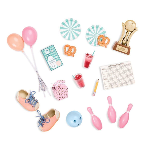 Classic Retro Bowling Set Our Generation Doll Accessories- BibiBuzz