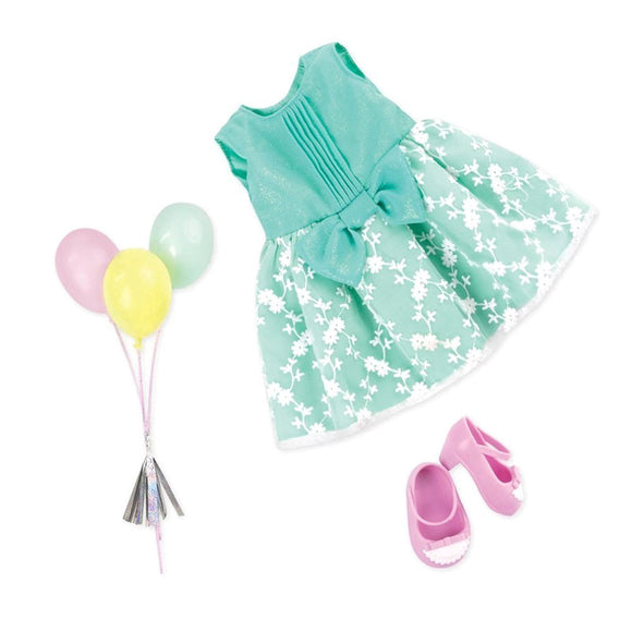 Regular Birthday Outfit - Party Perfect Our Generation Doll Accessories- BibiBuzz
