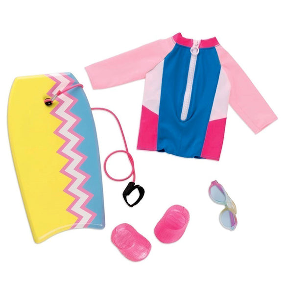 Regular Boogie Board Outfit - Fashion Wave Our Generation Doll Accessories- BibiBuzz
