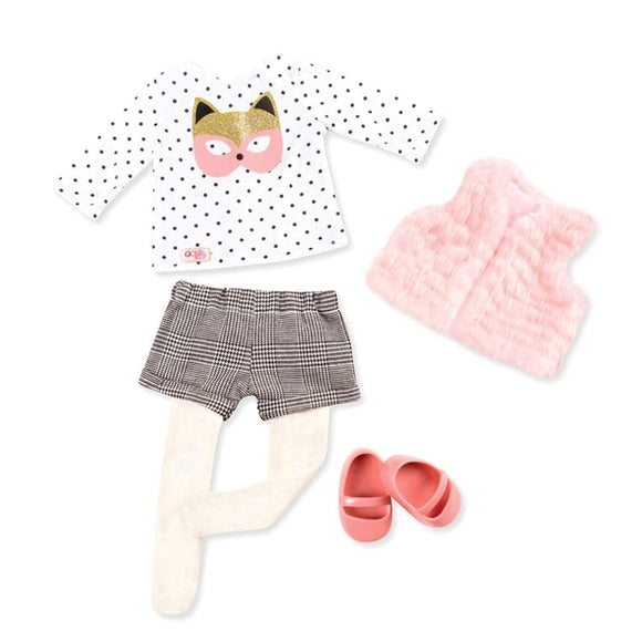 Regular Faux-Fur Outfit - Cute As A Fox Our Generation Doll Accessories- BibiBuzz