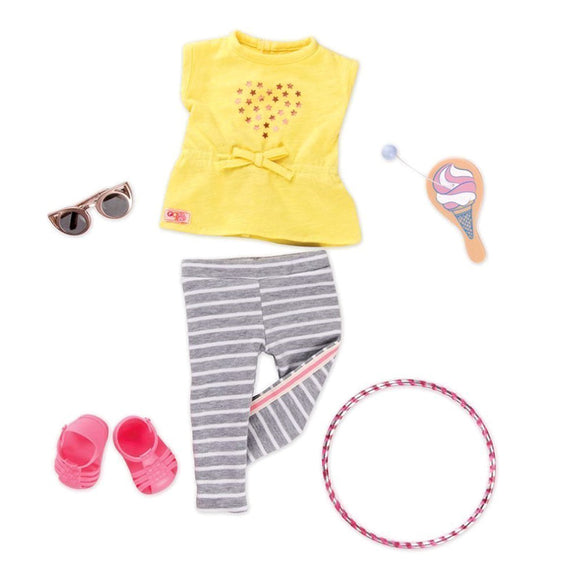 Regular Playtime Outfit - Hula Hooray Our Generation Doll Accessories- BibiBuzz