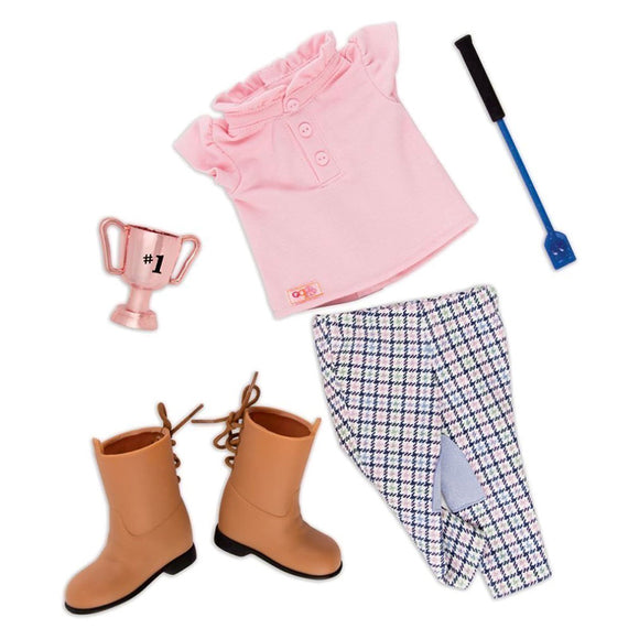 Regular Riding Outfit - Winning Streak Our Generation Doll Accessories- BibiBuzz