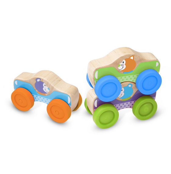 Animal Stacking Cars Melissa & Doug Developmental Toys- BibiBuzz