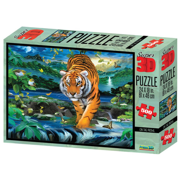 Super 3D Puzzle On the Prowl 500pc RGS Smartplay Puzzles- BibiBuzz