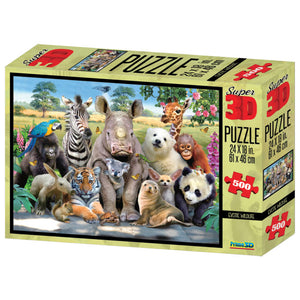 Super 3D Puzzle Exotic Wildlife 500pc RGS Smartplay Puzzles- BibiBuzz