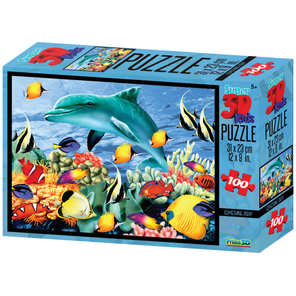 Super 3D Puzzle Something Fishy 100pc RGS Smartplay Puzzles- BibiBuzz